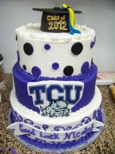 TCU Graduation Cake